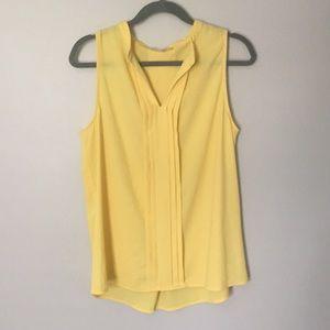 41 Hawthorn Yellow V Neck sleeveless top